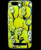 Чехол накладка для Lenovo A2020 Vibe C силиконовый с рисунком, Minions