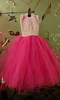 """Платье пышное детское """"Праздник"""", розовое, """"ту-ту"""", с возможным отдельным оформлением по Вашему вкусу"""