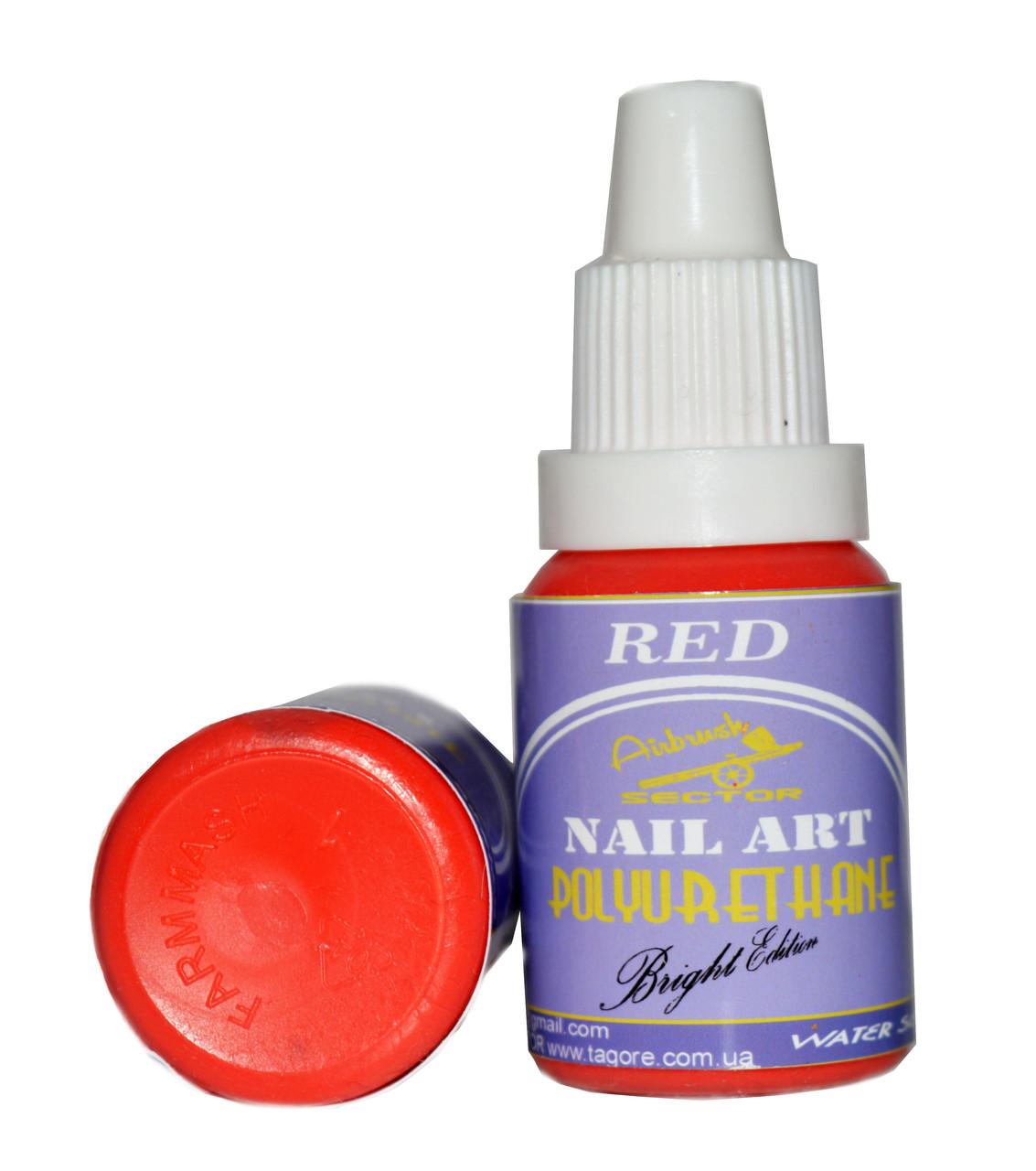 Краска для ногтей POLYURETHANE Bright Edition RED