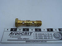 Болт-штуцер М10*1,0 х 40 (под 2 наконечника) медный, Cu-310239