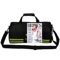 Спортивная сумка Adidas черная с салатовым логотипом (реплика)