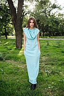 Женское платье с хомутом из шерсти букле