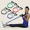 Эспандер трубчатый с ручками для фитнеса