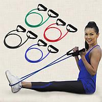 Эспандер трубчатый с ручками для фитнеса, фото 1