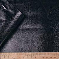 Замша искусственная черная штампованная ш.145 флок  ткань