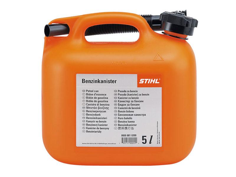 Канистра STIHL для бензина 5 л, прозрачная, оранжевая