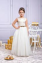 Нарядное детское платье Золото, фасон Бальный