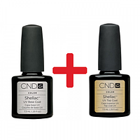 НАБОР CND SHELLAC BASE+TOP,набор база+топ 7.3 ml