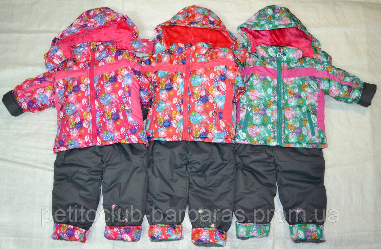 Комплект зимний: куртка и полукомбинезон для девочки