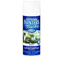 Эмаль универсальная алкидная RUST OLEUM Painter's Touch белая глянцевая, спрей 0,340