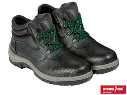 Ботинки рабочие кожаные метносок