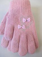 Зимние перчатки для девочек утепленные
