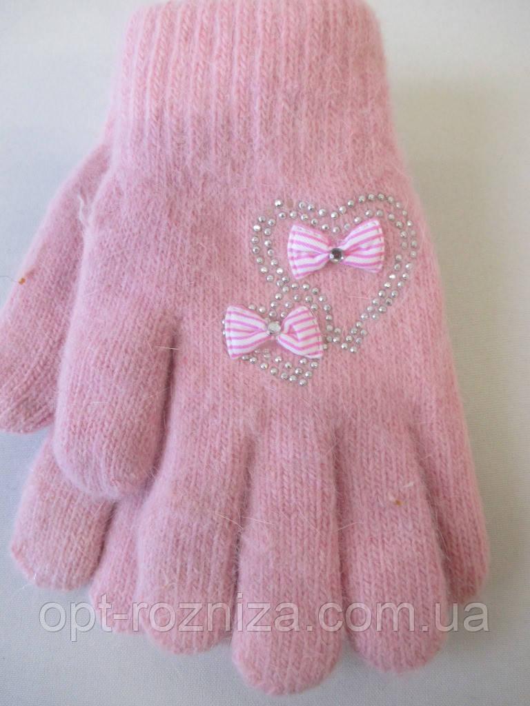 Зимові рукавички для дівчаток утеплені