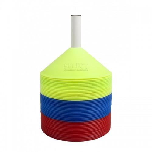 Маркер тренировочный Select Marker Set 48 pcs w/plastic holder (16 синих+16 желтых+16 красных)