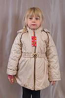 Отличное демисезонное стеганое пальтишко на девочку
