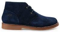 Ботинки мужские Ugg Australia Leighton (угги лейтон) замшевые синие, угги мужские