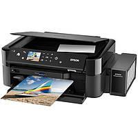 МФУ струйное цветное Epson L850 (C11CE31402), Black, 5760х1440 dpi, до 37/38 стр/мин, печать на CD/DVD, печать с USB, ЖК цветной экран 6,9 см,