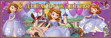 Плакат баннер София прекрасная 30х90 см