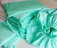Тонкие бортики в детскую кроватку мятного цвета купить в Херсоне