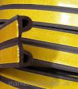 Уплотнитель для окон резиновый  P9*5.5 мм 100 метров коричневый Польша