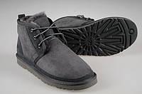 Ботинки мужские Ugg Australia Neumel, мужские угги неумел замшевые серые, угги мужские