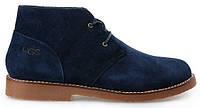 Ботинки мужские Ugg Australia Leighton, мужские угги лейтон замшевые синие, угги мужские