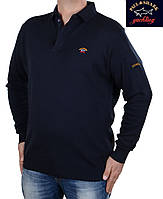 Брендовый трикотажный мужской свитер  Paul & Shark navy