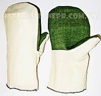 Рукавицы хлопчатобумажные с брезентовым наладонником