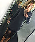 Женское платье, французский трикотаж+дорогое кружево, р-р S; M, фото 2