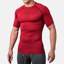 Компрессионная футболка Peresvit Air Motion Compression Short Sleeve T-Shirt Red Black, фото 2
