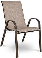 Кресло   BOLONIA  металлическое  55х75х91 см , коричневое