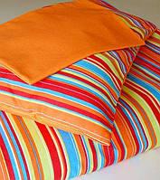 Полуторный комплект постельного белья в полоску