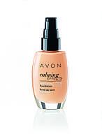 Матирующий тональный крем для лица с успокаивающим эффектом, Avon Calming Effects, Warmest Beige,бежевый,96807