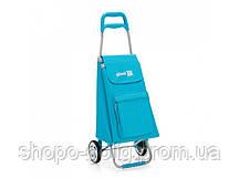 Сумка хозяйственная на колесиках Argo, голубая, 37x33x95,6 см