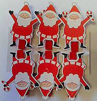 Новогодняя игрушка Дед Мороз на прищепке 91055-PN Китай