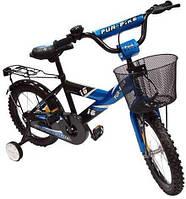 Велосипед детский 2-х колесный Alexis 16 с корзиной  синий
