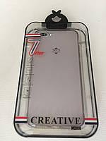 Прозрачный TPU чехол для iPhone 7 Plus / iPhone 8 Plus XO Серый