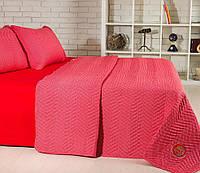 Одеяло летнее и постельное белье: Евро набор Горох красный