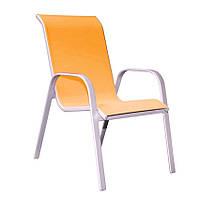 Кресло   BOLONIA  металлическое  55х75х94 см , оранжевое