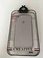 Прозрачный TPU чехол для iPhone 7 / iPhone 8 XO Серый, фото 1