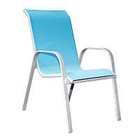Кресло   BOLONIA  металлическое  55х75х94 см , голубое