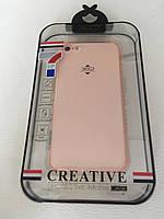 Прозрачный TPU чехол для iPhone 7 / iPhone 8 XO Розовый