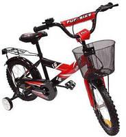 Велосипед детский 2-х колесный Alexis 16 с корзиной красный