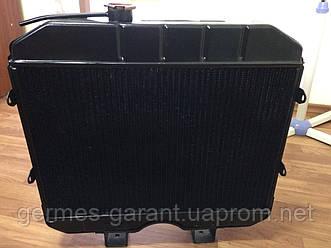 Радіатор водяний охолодження УАЗ (2-х рядний) (в-во Бішкек)