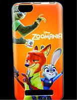 Чехол накладка для Lenovo A2020 Vibe C силиконовый с рисунком, Zoomania