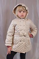 Красивое демисезонное стеганое пальтишко на девочку