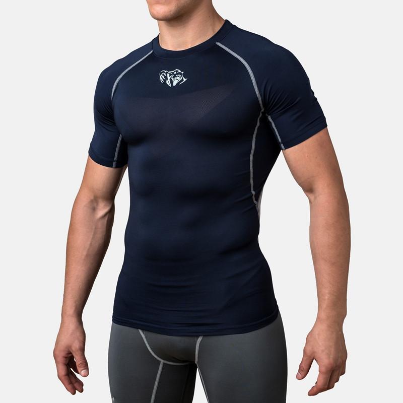 Компрессионная футболка Peresvit Air Motion Compression Short Sleeve T-Shirt Navy Grey