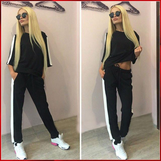 d256ef3b543f Женский спортивный костюм черный купить в интернет магазине   Цена ...