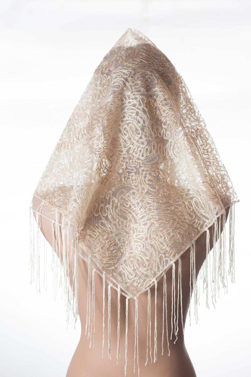 Свадебный фатиновый платок