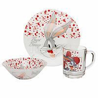 Набор детской посуды Bugs Bunny 3 предмета